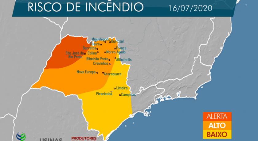 Campanha de Conscientização, Prevenção e Combate aos Incêndios de 2020 terá Indicativo das áreas mais suscetíveis aos incêndios em todo o Estado de São Paulo